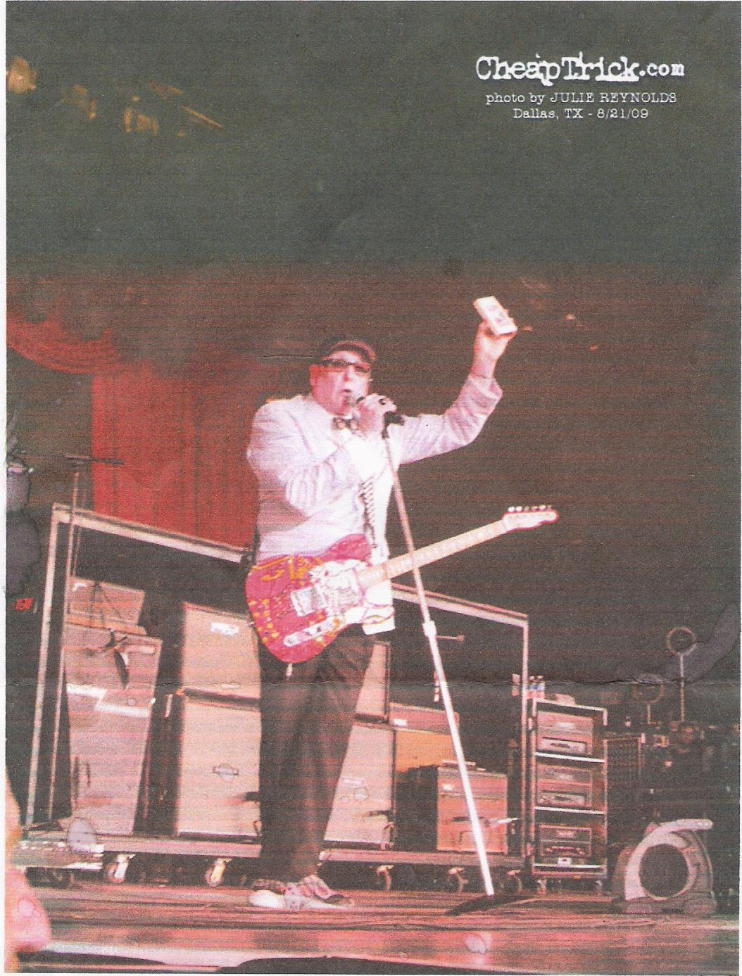 cheap trick on stage with 8-track