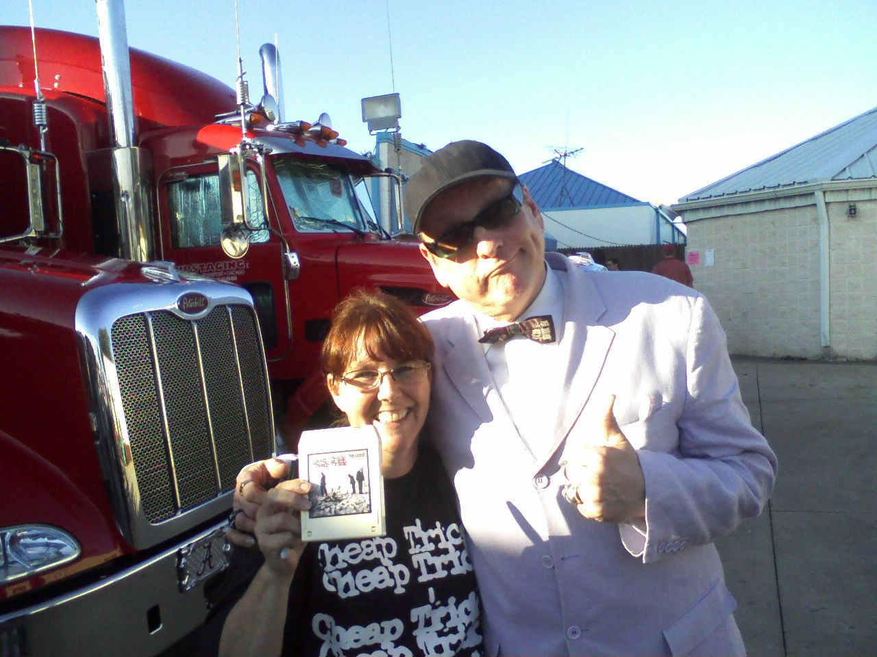 Kathy with Rick N at Cheap Trick Concert