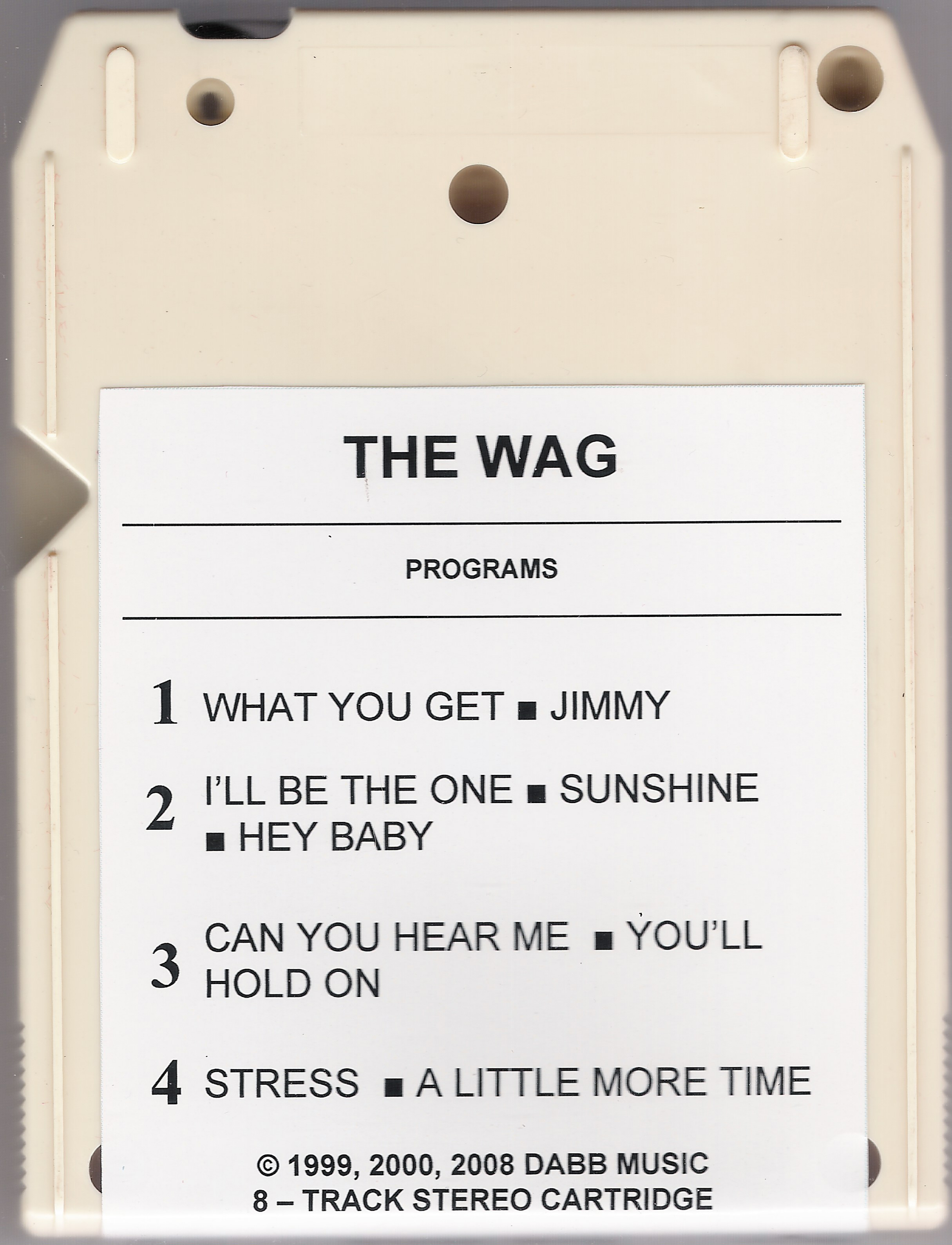the wag 8-track back